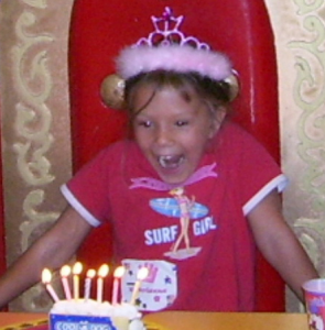 birthday girl excited